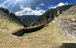 view of wiñaywayna that is the most impressive inca site along the inca trail to machu picchu